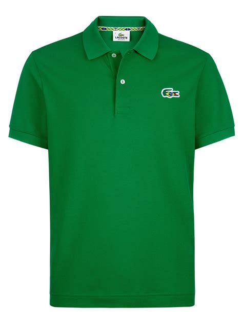 themed shirts lacoste brazil themed polo shirt in green for men lyst