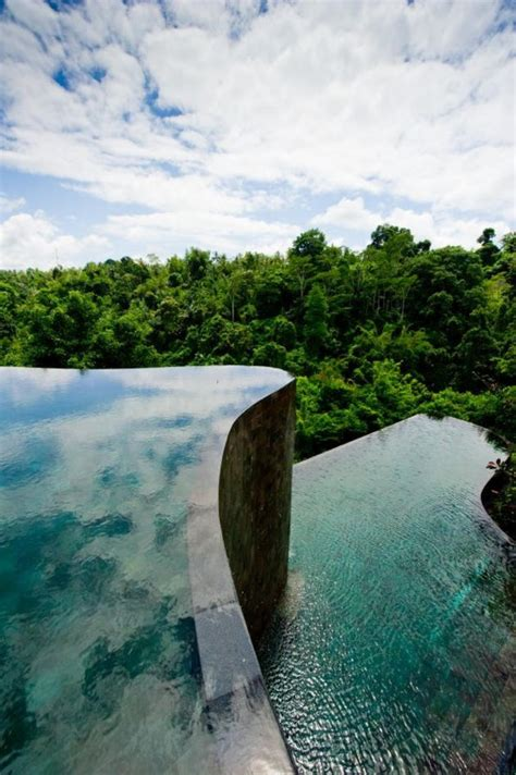 beautiful ubud hanging gardens  bali indonesia