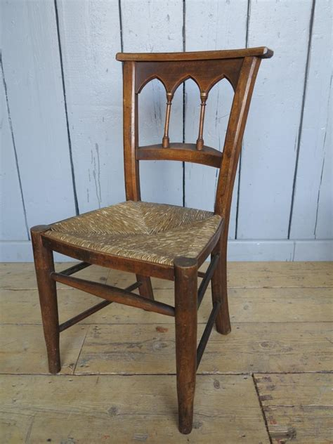 3 available antique seated church chairs kitchen