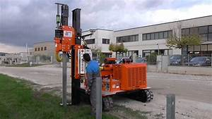 Guardrail Safety Barrier Installation With Gps Pile