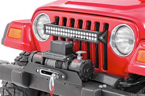 jeep light bar grill 20in dual row single row led light bar grille mounts for