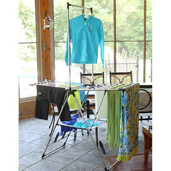 costco clothes rack greenway indoor outdoor stainless steel laundry rack