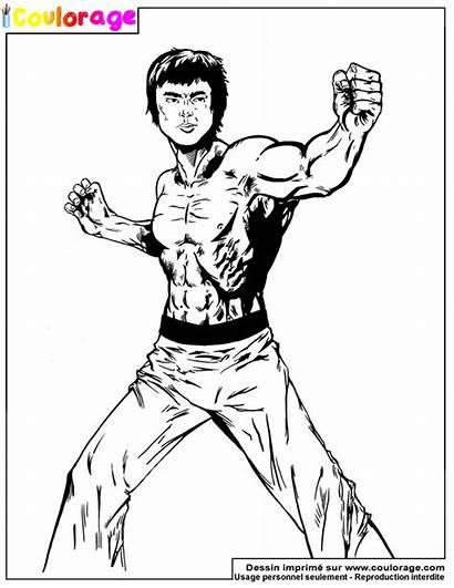 Coloriage Bruce Lee Imprimer Dessin Ohbq Fu