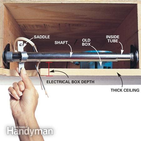 how to install a ceiling fan box without attic access how to install ceiling fans the family handyman