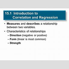 Chapter 15 Correlation And Regression  Ppt Download