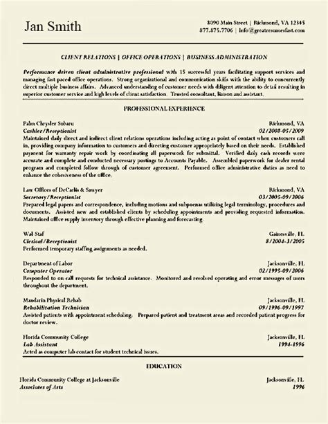 resume company background cashier resume exle resume exles and business
