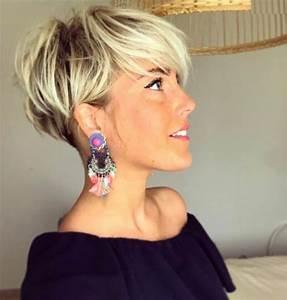 Coiffure Blonde Courte : 1001 id es de coupe courte femme moderne et styl e ~ Melissatoandfro.com Idées de Décoration