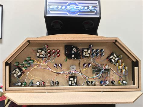 4 Player Arcade Cabinet Build by 4 Player Mame Cabinet Panel With Spinner