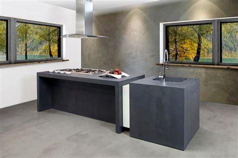 beton cuisine béton ciré résine cuisine salle de bain salon