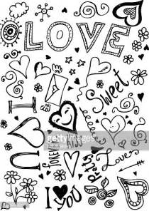Doodle Art Heart with Words