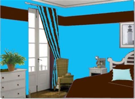 deco chambre marron et bleu design de maison