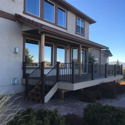 composite deck gallery colorado springs   leary  sons