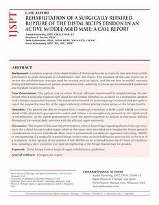 Pdf  Rehabilitation Of A Surgically Repaired Rupture Of