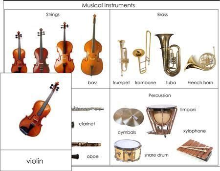 musical instruments nomenclature  montessori