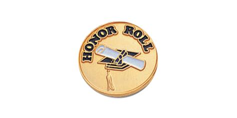 Honor Roll Pin, Gold