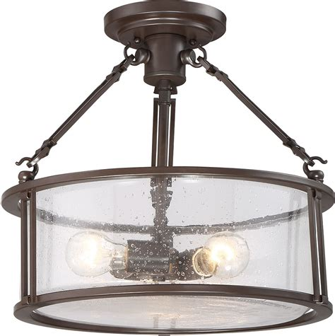quoizel bcn1716wt buchanan western bronze ceiling light