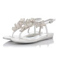 wedding shoes sandals flat open toes leatherette crystral ivory wedding shoes on sale flowerweddingshoes