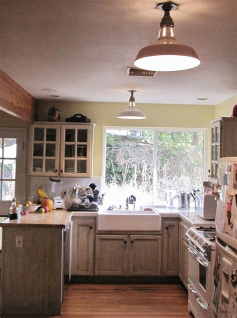 vintage benjamin warehouse shades  farmhouse kitchen