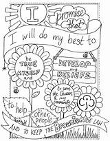 Scout Brownie Promise Colouring Brownies Sheet Scouts Coloring Law Pages Activities Guides Meetings Cub Leader sketch template