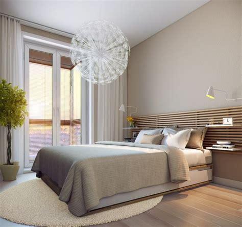 schlafzimmer ideen reihenhaus modernes schlafzimmer creme wandfarbe und holzlatten