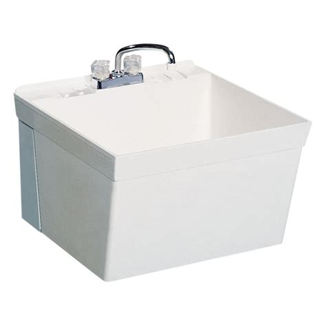 swanstone utility sink home depot shop swanstone white composite laundry sink at lowes