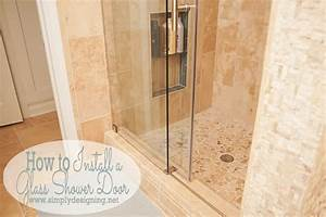 How to install a new shower door for How to replace a bathroom window