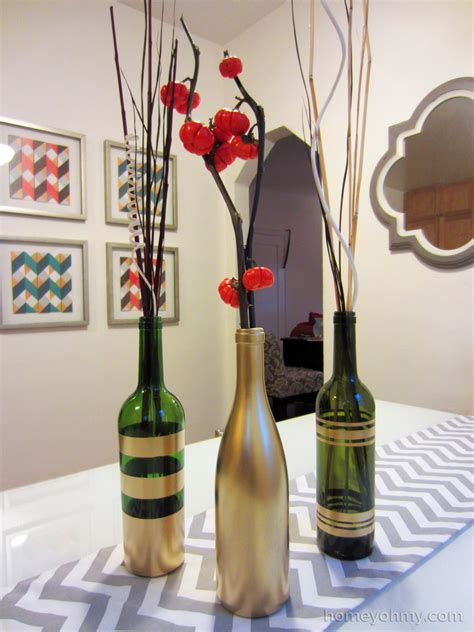 diy wine bottle diy spray painted wine bottles for fall decorating
