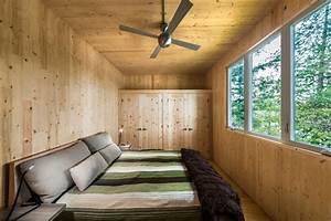 Modern Prefab Cabin in Quebec Uses Innovative Wood Panels