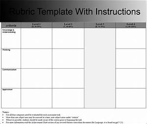 rubric template blank rubric teachers printable analytic With rubric template maker