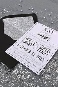 eat drink and be married modern glamourous wedding With white and silver wedding invitations pinterest