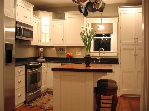 Practical Small Kitchen Remodel With Island Railing