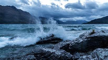 Ocean 4k Sea Rocks Clouds Wave 5k