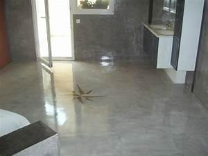 Vernis Sol Beton : sol de salle de bain en b ton cir et verni innov 39 beton ~ Premium-room.com Idées de Décoration