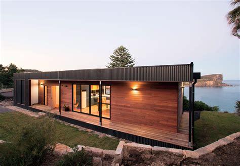 modular steel homes modern beachside prefab home in australia by archiblox