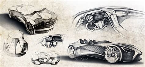 futuristic cars drawings ferrari millenio concept the future of italian electric