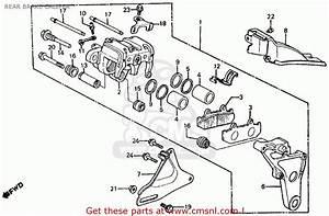 Honda Ft500 Ascot 1983  D  Usa Rear Brake Caliper