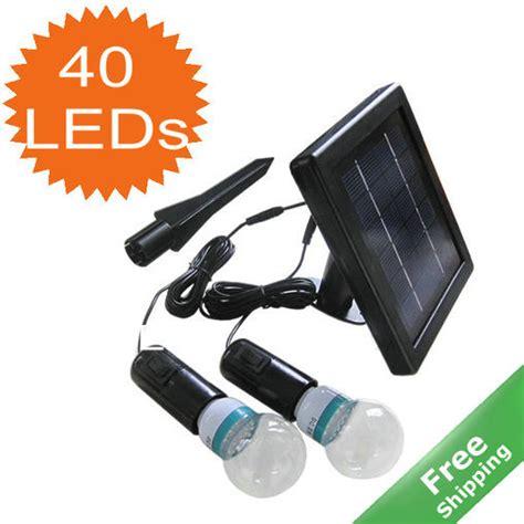 solar home light 100 solar powered two led bulbs for room