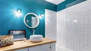Couleur Mur Salle De Bain : peinture salle de bains couleurs conseils erreurs viter c t maison ~ Dode.kayakingforconservation.com Idées de Décoration