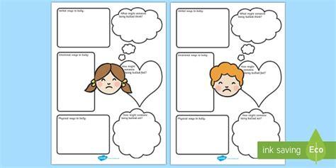 bullying worksheets bullying bully behaviour