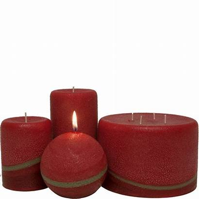 Candles Scented Pillar Pomegranate Ginger Orange Candle