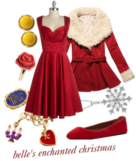 quot belle s enchanted christmas dress quot by princesschandler on
