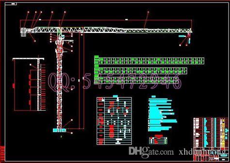 pt flat head  climbing tower crane drawings
