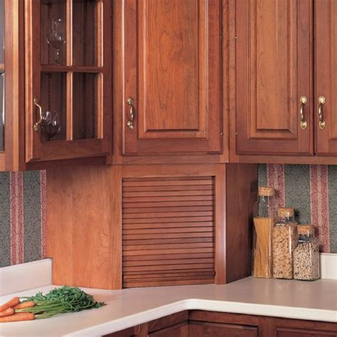 tambour kitchen cabinet doors omega national products 24 inch corner appliance garage 6001