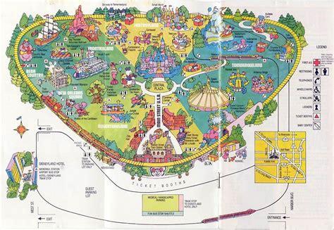walt disney world maps map disneyland  disneyland