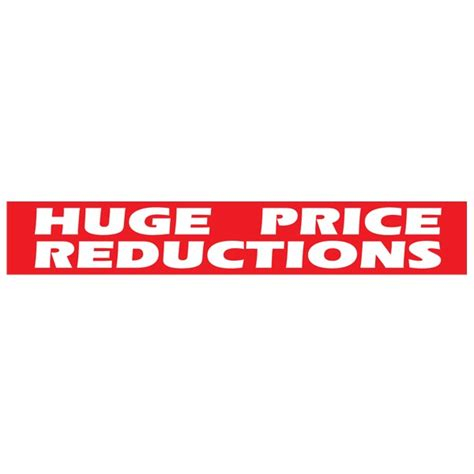 Huge price reductions poster | reductions poster for shops ...