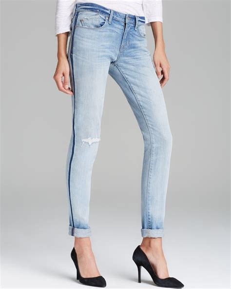 lyst marc  marc jacobs rolled slim jeans  blue