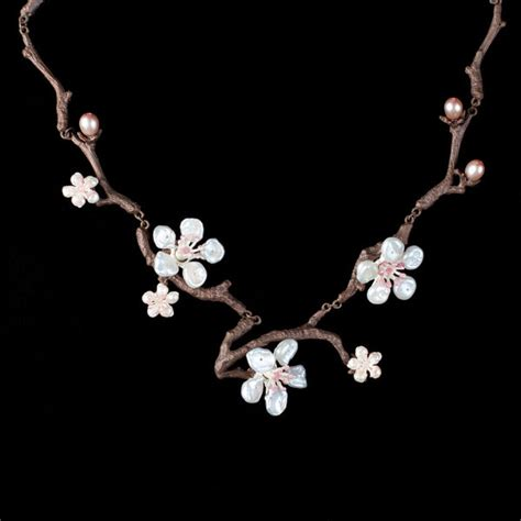 cherry blossom twig necklace michael michaud jewelry