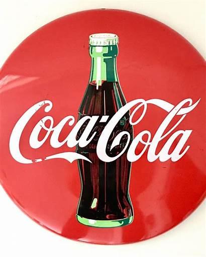 Cola Coca Advertising Sign Bottle Enamel 20th