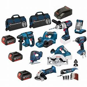 Bosch BAG+9RS Power Tool Kit 18v 4Ah Li-ion Batteries