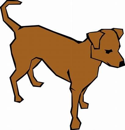 Clip Dog Brown Clker Clipart Royalty Vector
